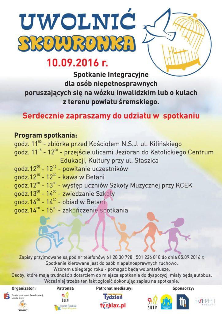 Plakat Uwolnić Skowronka 2016